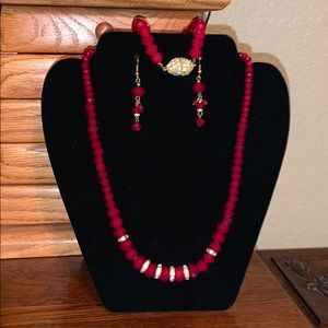 Red Beveled Necklace